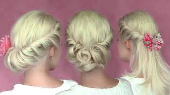 hair tutorials for medium hair romantic updo hairstyles for medium long hair hair