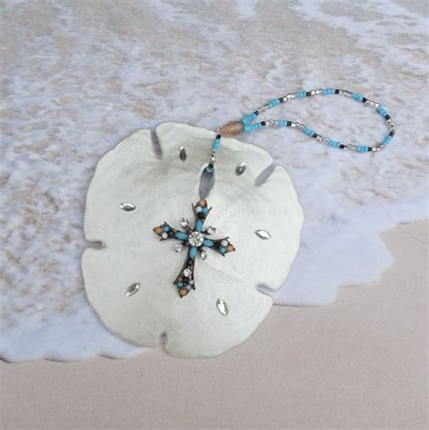 arrowhead sand dollar ornament christmas  coastalglamour