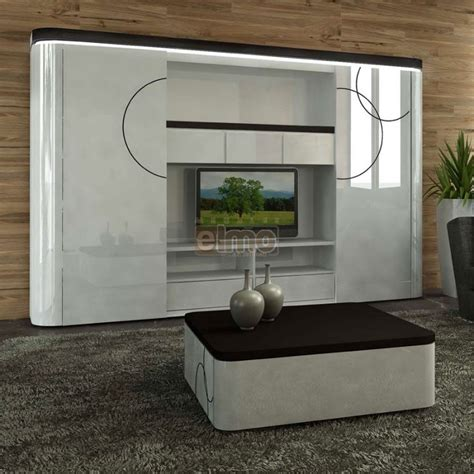 Meuble Living Tv by Meuble Tv Living Biblioth 232 Que Laque Bicolore Portes