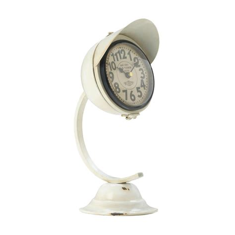 white vintage desk clock wholesale at koehler home decor