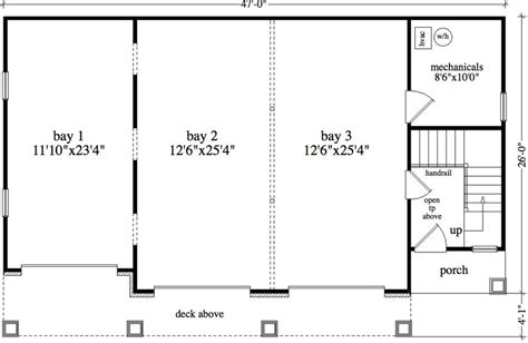 garage floorplans 2 bedroom 1 bath cabin lodge house plan alp 09am