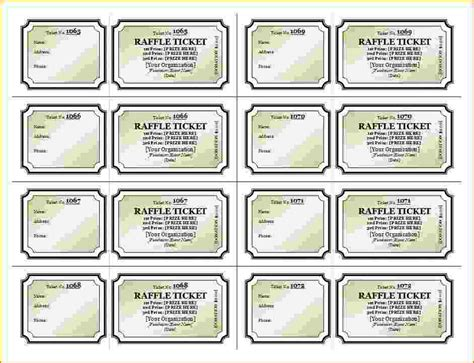 raffle sheet template raffle sheet template pdf raffle