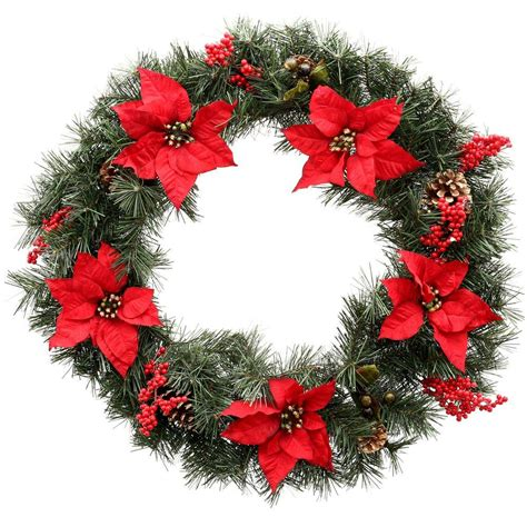 holiday wreath christmas wreaths and garland at the home depot