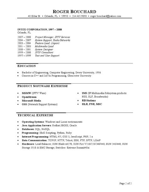 It Project Manager Resume by It Project Manager Resume
