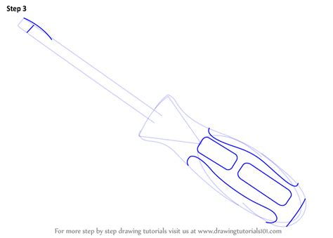 how to draw tools learn how to draw a slotted screwdriver tools step by