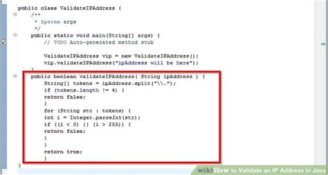 string pattern validation in java how to validate an ip address in java 2 steps with pictures