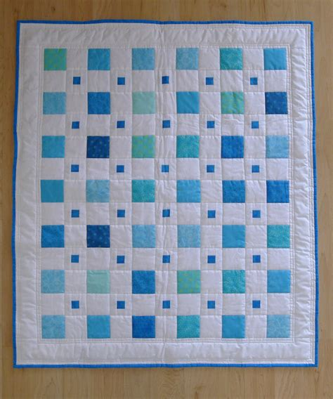 quilt pattern etsy blue boy baby quilt modern squares