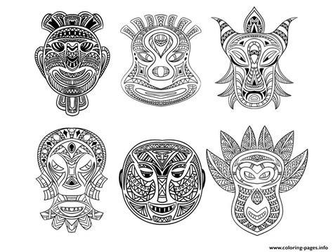 American Masks Coloring Book