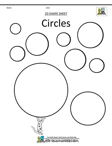 circle worksheet coloring pages