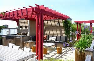 Rooftop Pergola by Contemporary Rooftop Pergola With Outdoor Kitchen No Rp6