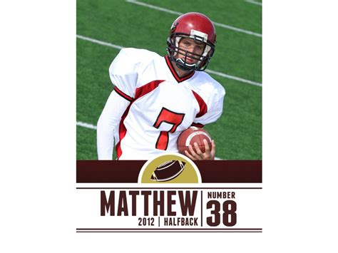 free football card template 15 psd football trading card images baseball trading