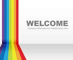 free rainbow powerpoint templates