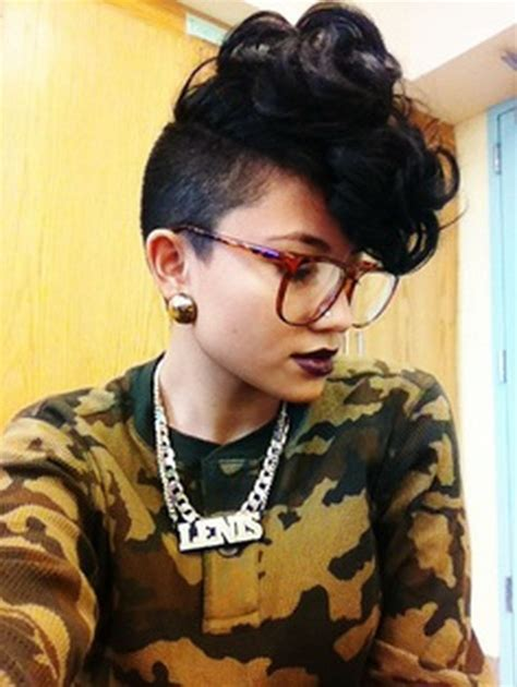 shaved sides curly weave mohawk hairstyles for black women short curly mohawk hairstyles