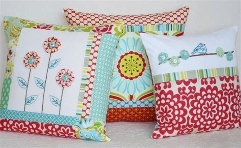 Patchwork Ideas For Cushions - patchwork pillows more ideas to sew craft handmade