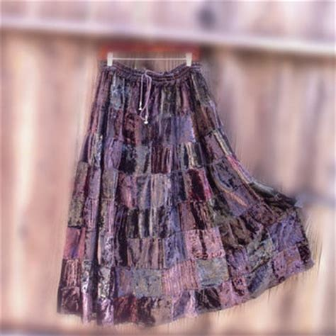 Plus Size Patchwork Skirt - plus size patchwork skirt vintage from khegreen on etsy
