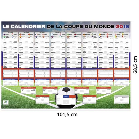 Calendrier Football Calendrier De La Coupe Du Monde 2018 Russie Football