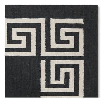black indoor outdoor rug key border indoor outdoor rug black williams sonoma