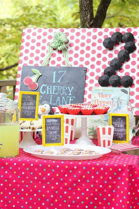 Mary Poppins Party Party Ideas | mary poppins party with so many really cute ideas via kara