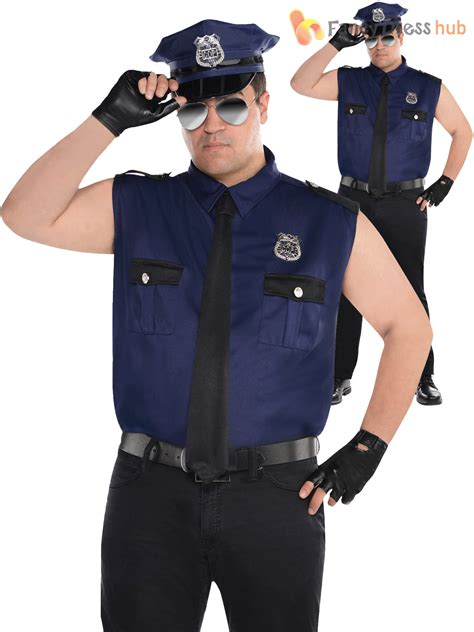 police uniform supplies adult mens police officer costume policeman new york cop