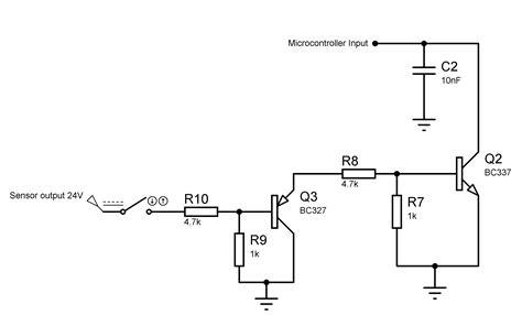 Alarm Pnp interface interfacing an inductive proximity sensor with