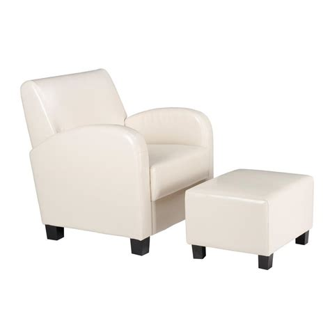 arm chair with ottoman ospdesigns cream vinyl arm chair with ottoman met807cm