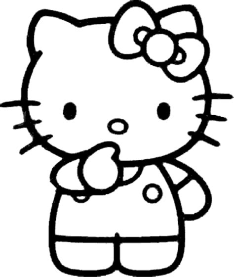 imagenes de hello kitty y melody dibujo de hello kitty en blanco y negro imagen 1111