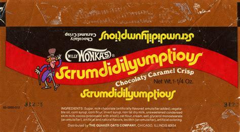 willy wonka bar template quaker oats willy wonka s scrumdidilyumptious ba