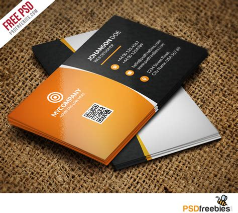 business cards templates free psd free corporate business card psd vol 1 psdfreebies