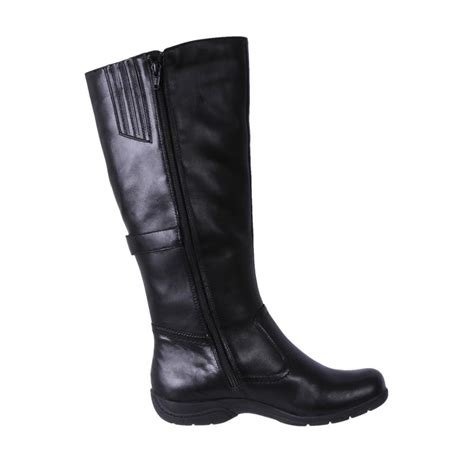 planet shoes leather comfort knee high boots steph black cheap