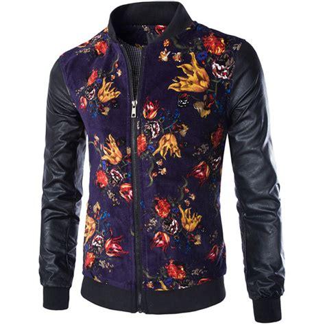design cooling jacket cool design floral jacket men 2016 new autumn winter