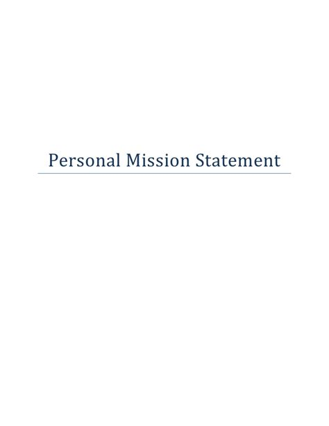my personal mission statement summary durdgereport886