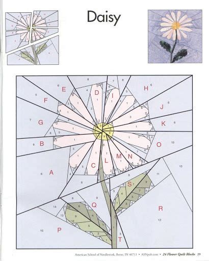 daisy paper flower pattern 17 best images about paper piecing on pinterest hexagons
