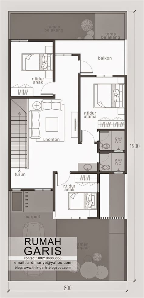 Two Story House Plans For Narrow Lots by Two Story Narrow Lot House Plan Eplans