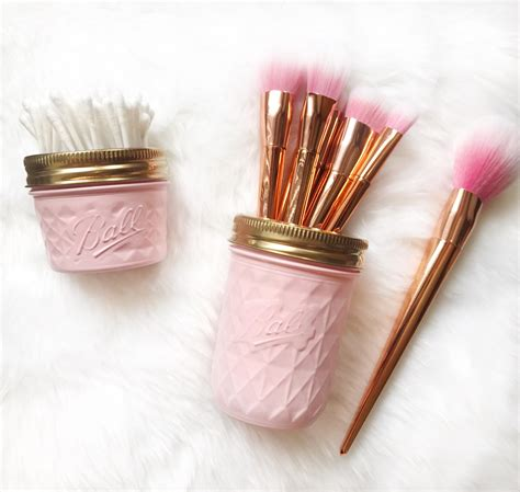 Brush Holder Pink soft pink makeup brush holder makeup organiser baby pink