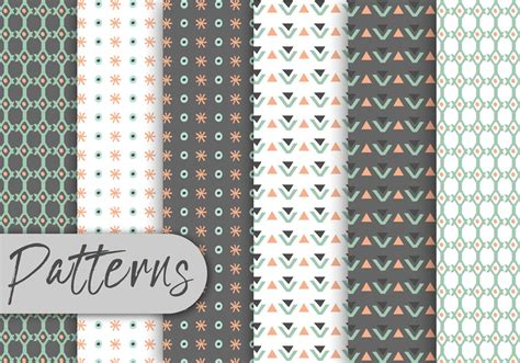 cute pattern set cute geometric decorative pattern set download free