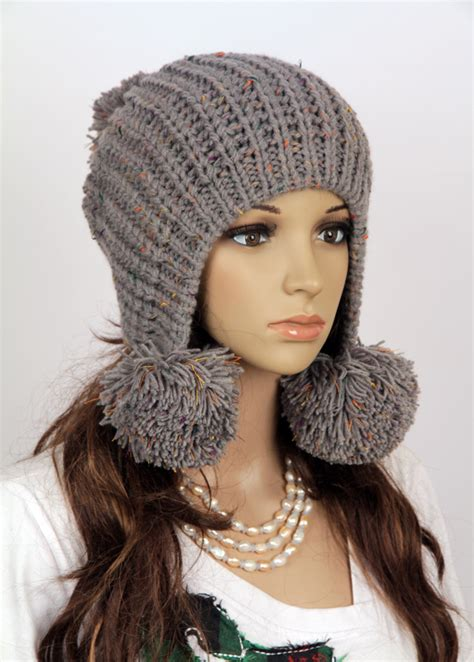 Handmade Knitted Hats - slouchy handmade knitted hat clothing cap on luulla