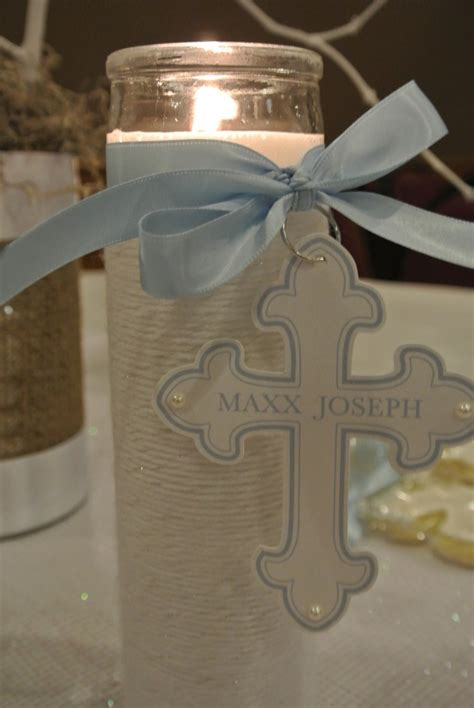 Boy Baptism Party Ideas Christening Decorations Baptism Centerpieces Ideas