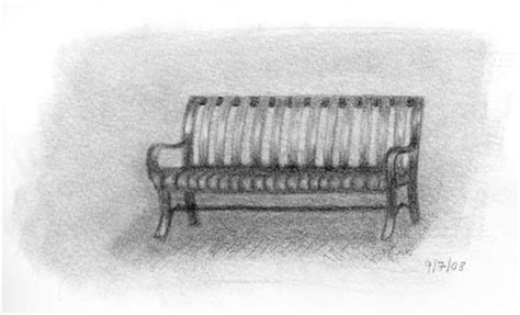 how to draw a park bench laurel neustadter illustration edm 184 draw a park bench