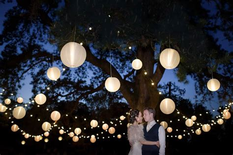 lighted trees for wedding venue styling and decoration from stylish