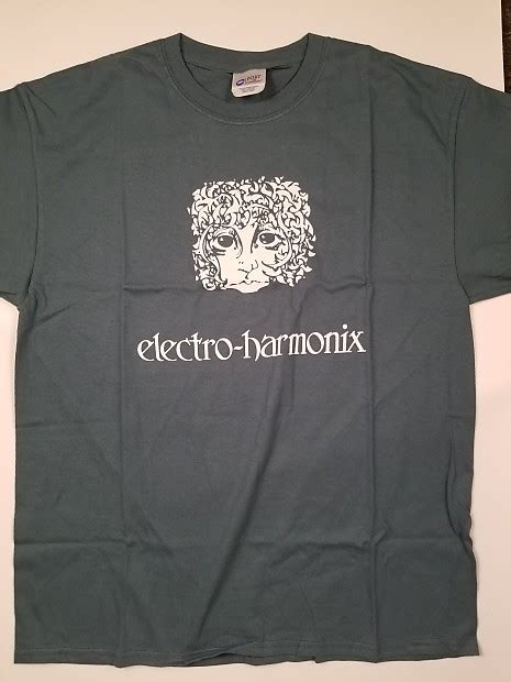 T Shirt Electro Harmonix electro harmonix green logo t shirt large rock island