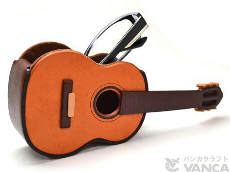 Handmade Leather Guitar - guitar handmade leather eyeglasses holder stand
