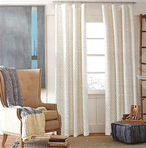 tommy hilfiger curtains tommy hilfiger diamond lake ivory beige 2pc window curtain