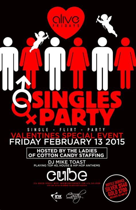 valentines singles events club crawlers