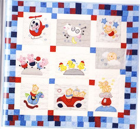 Applique Quilt Patterns Nursery Quilt Applique And Pieced Baby Quilt Pattern
