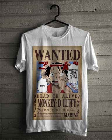 Tshirt Kaos Monkey D Luffy baju kaos monkey d luffy one on12 baju kaos