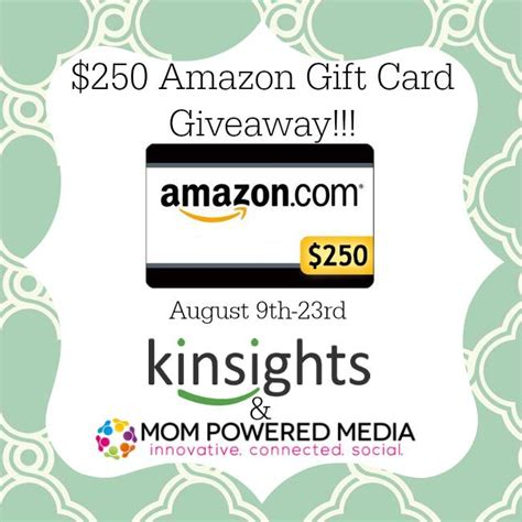 Schwan S Gift Cards - 250 amazon gift card giveaway thrifty mom s reviews morethrifty mom s reviews more