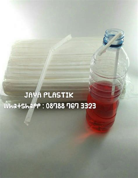 jual sedotan tekuk steril putih jaya plastik