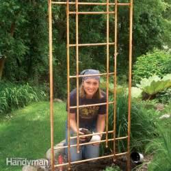 Build A Garden Trellis by Diy Copper Garden Projects The Garden Glove