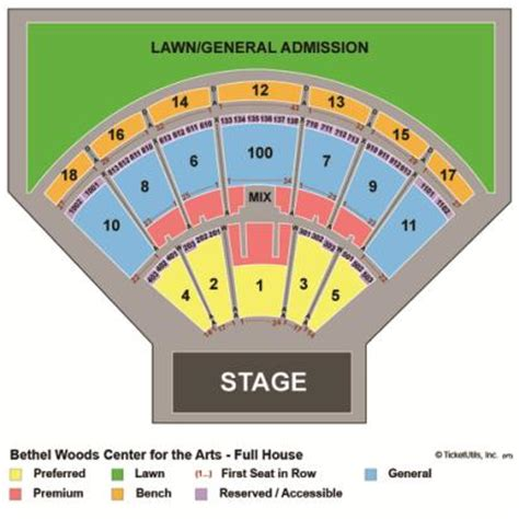 bethel woods seating vipseats bethel woods center for the arts tickets