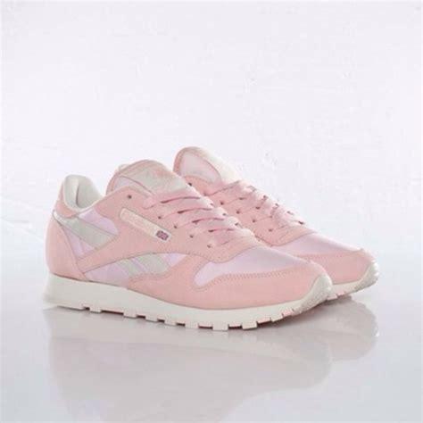 pastel sneakers shoes pastel pink reebok classic reebok reebok shoes